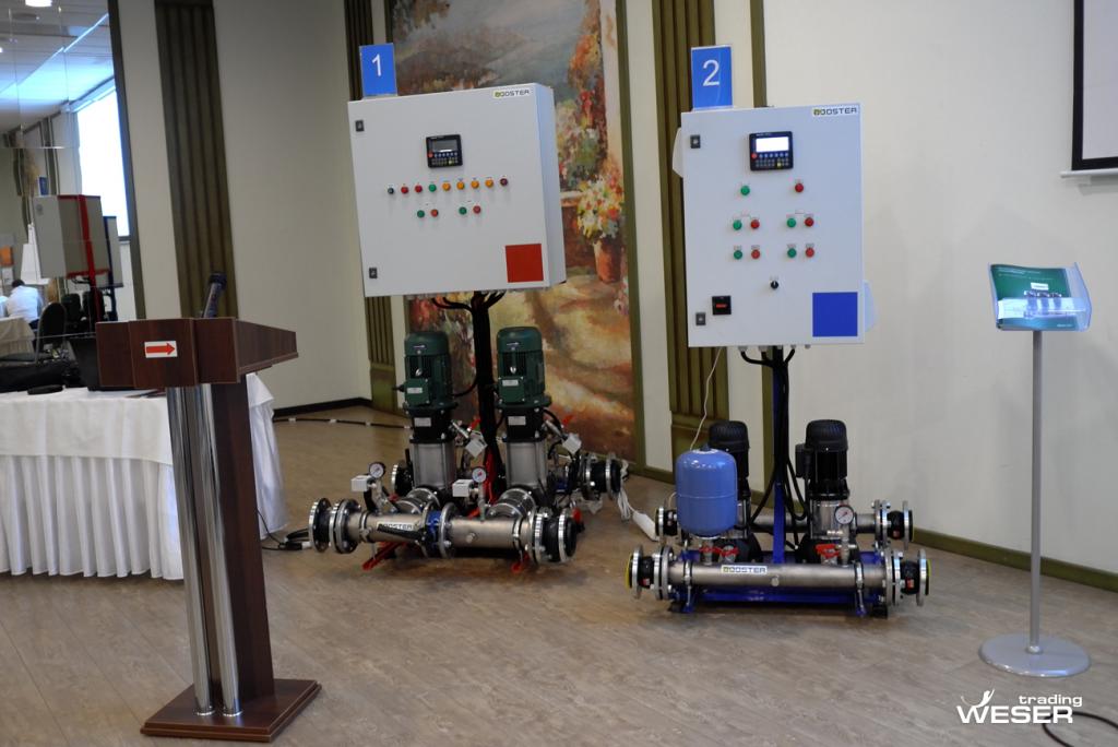 Насосные установки Rubooster (Рубустер) на выставочном пространстве семинара